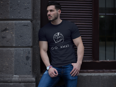 """Go Away"" Short-Sleeve Unisex T-Shirt (Black/Navy)"