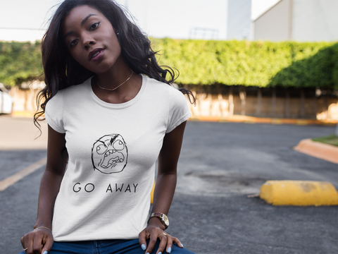 """Go Away"" Short-Sleeve Unisex T-Shirt (White)"