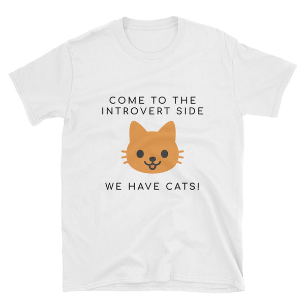 """We Have Cats"" Short-Sleeve Unisex T-Shirt (White)"