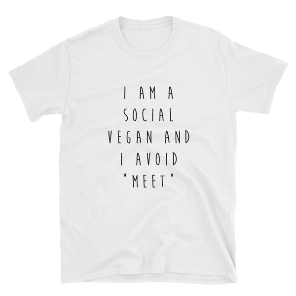 """Social Vegan"" Short-Sleeve Unisex T-Shirt (White)"