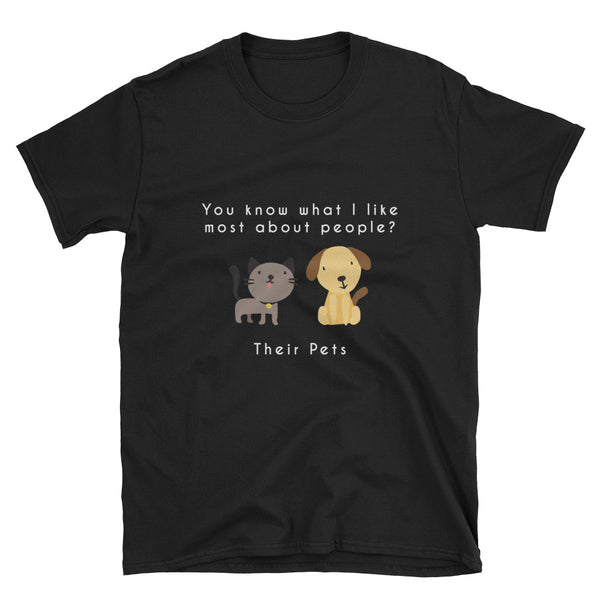 """What I Like Most About People"" Short-Sleeve Unisex T-Shirt (Black/Navy)"