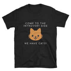 """We Have Cats"" Short-Sleeve Unisex T-Shirt (Black/Navy)"