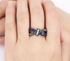Various Cubic Zirconia Black Gold Filled Ring