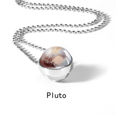 Unique Solar System Planet Necklace --Pluto