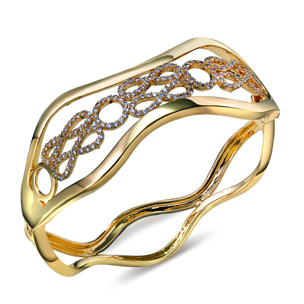 Gold and Platinum Plated Bangle