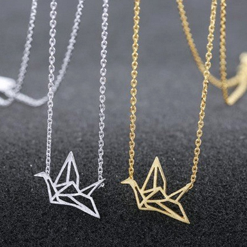 Simply Fashion - Origami Crane Necklace