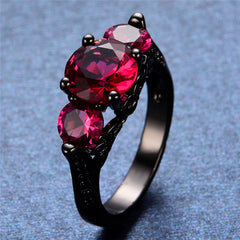 Black Gold-Filled Hot Pink Ring Version 3.0
