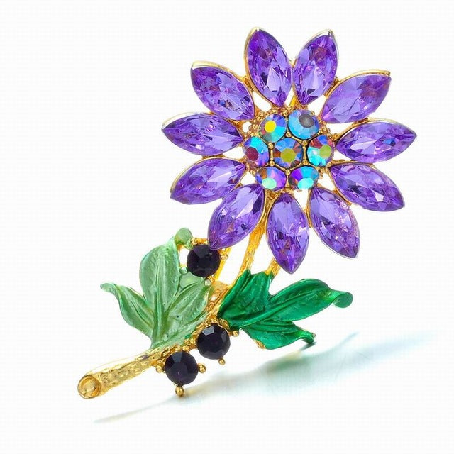 Charms Birthstone Flower Necklace Assorted Colours