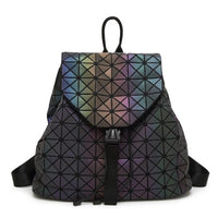 Geometric Hologram Backpack for Women