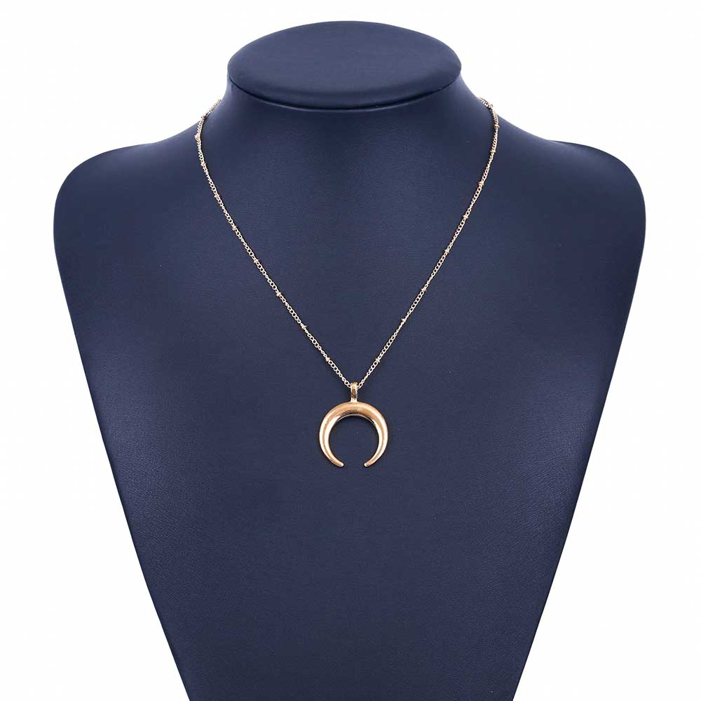 Curved Moon Necklace