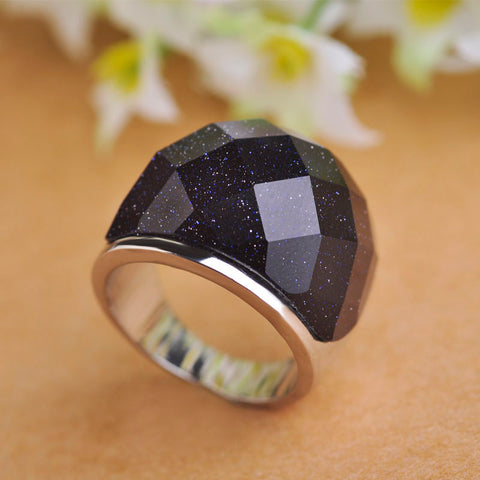 Gorgeous Black/White Galaxy Milky Ring