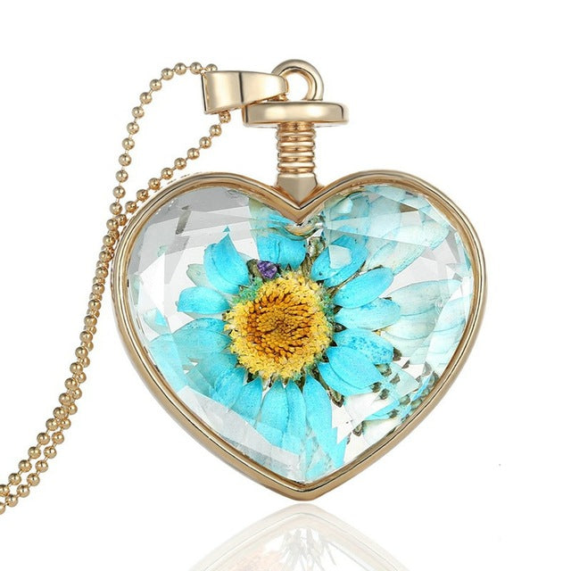 Dry Pressed Real Flowers Lockets