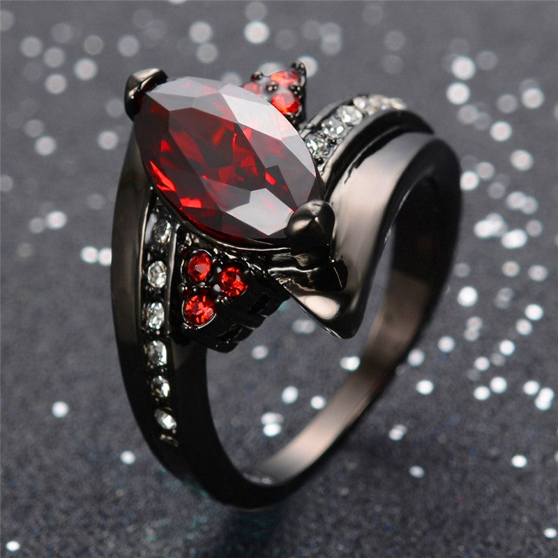 Marquise Cut Ruby Red Ring