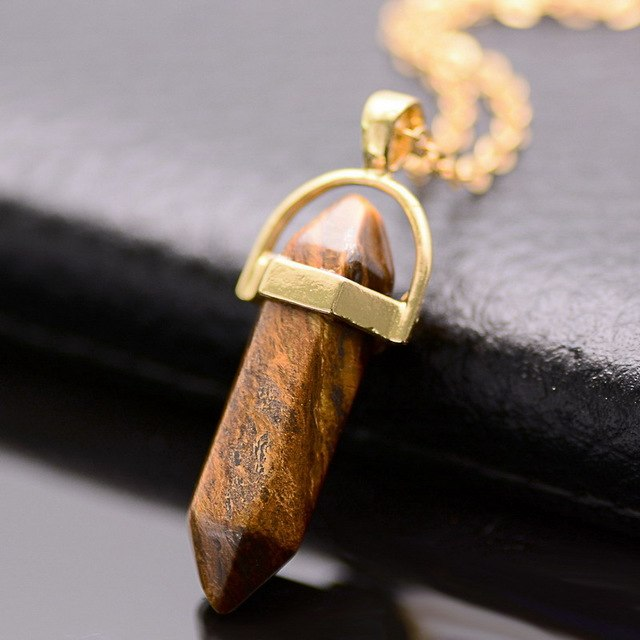 Gold/Silver Plated Opal Pendant Necklace