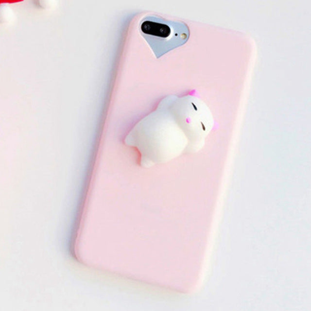 Stress Relief Squishy 3D Animal Soft Case