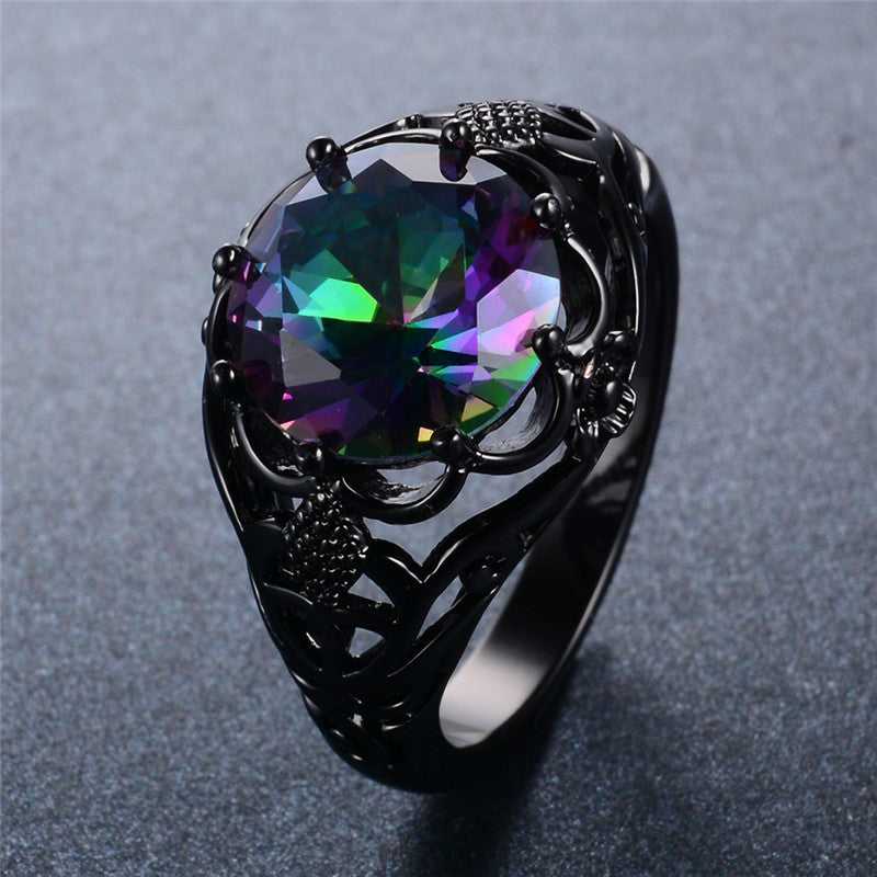 Shining Flower Cubic Zircon Ring