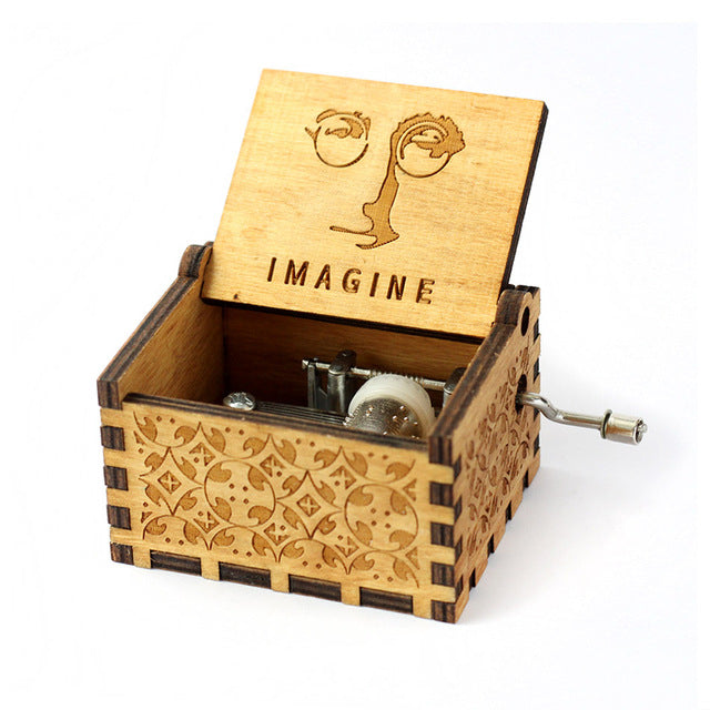 Hand Crank Wooden Music Box