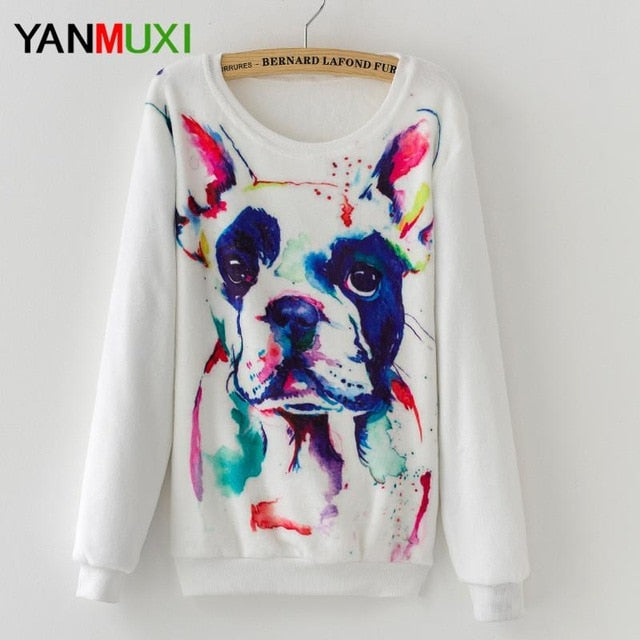 Animal Lover Long Sleeve Warmer Sweater Frenchie