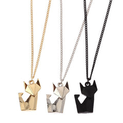 Simply Fashion - Origami Cat Necklace