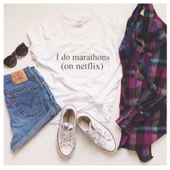 I Do Marathons On Netflix T-Shirt