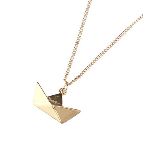 Simply Fashion - Origami Boat Necklace
