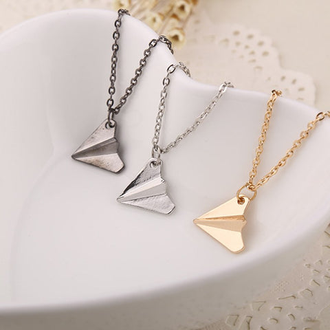 Simply Fashion - Origami Airplane Necklace