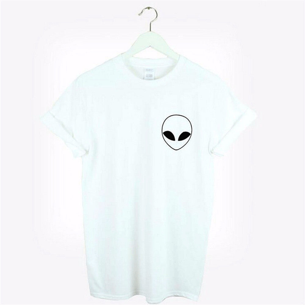 Alien Pocket Print Top