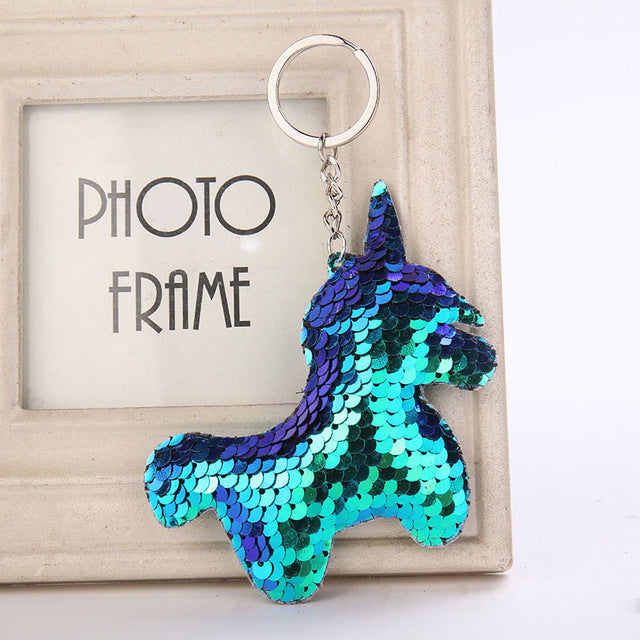 Cute Glitter Sequins Keychain - Unicorns and Mermaids