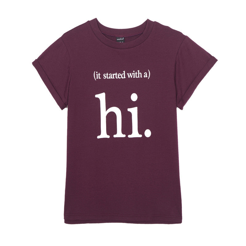 Hi Women Casual T-Shirt