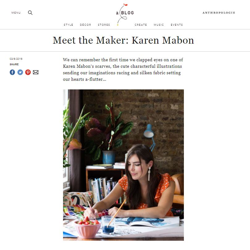 Anthropologie: Meet the Maker: Karen Mabon