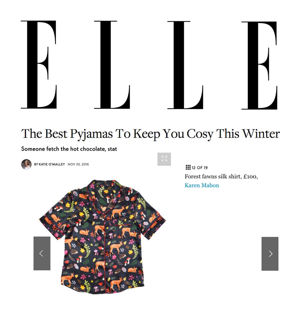 ELLE: The Best Pyjamas To Keep You Cosy This Winter