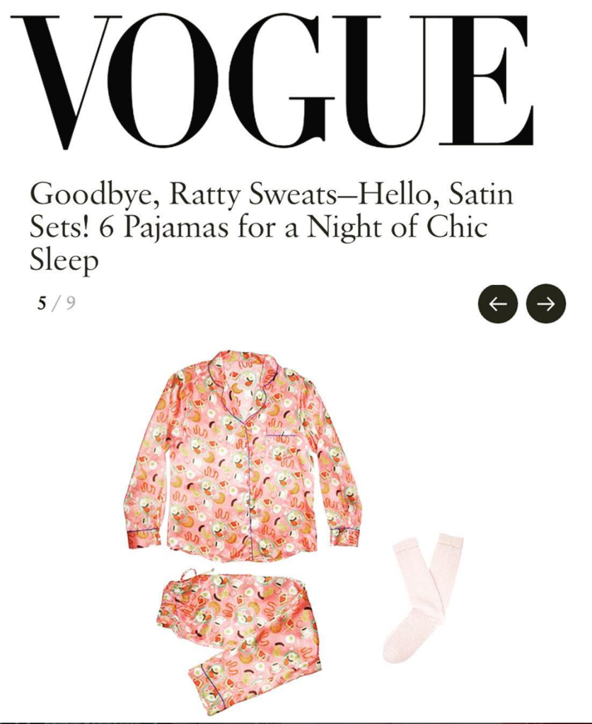 VOGUE: Goodbye, Ratty Sweats - Hello, Satin Sets! 6 Pyjamas for a Night of Chic Sleep
