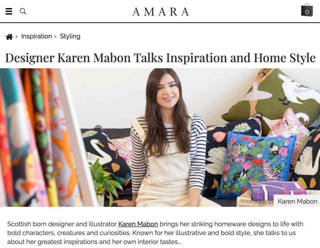 AMARA: Designer Karen Mabon talks Inspiration and Home Style