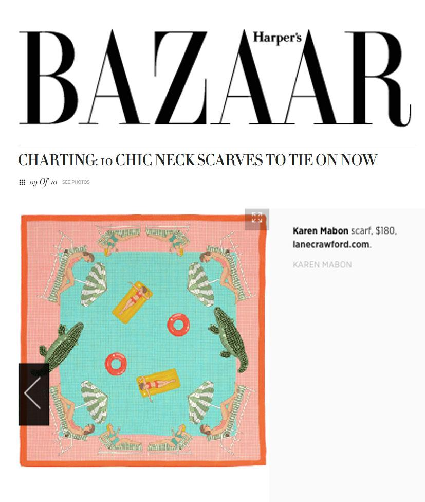 Harpers Bazaar: Charting 10 Chic Neck Scarves to Tie on Now