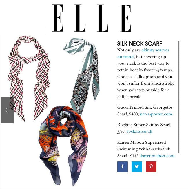 ELLE: Silk Neck Scarf