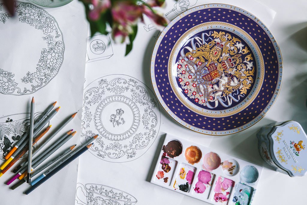 Karen Mabon drawings for Oh so Royal Buckingham Palace collection