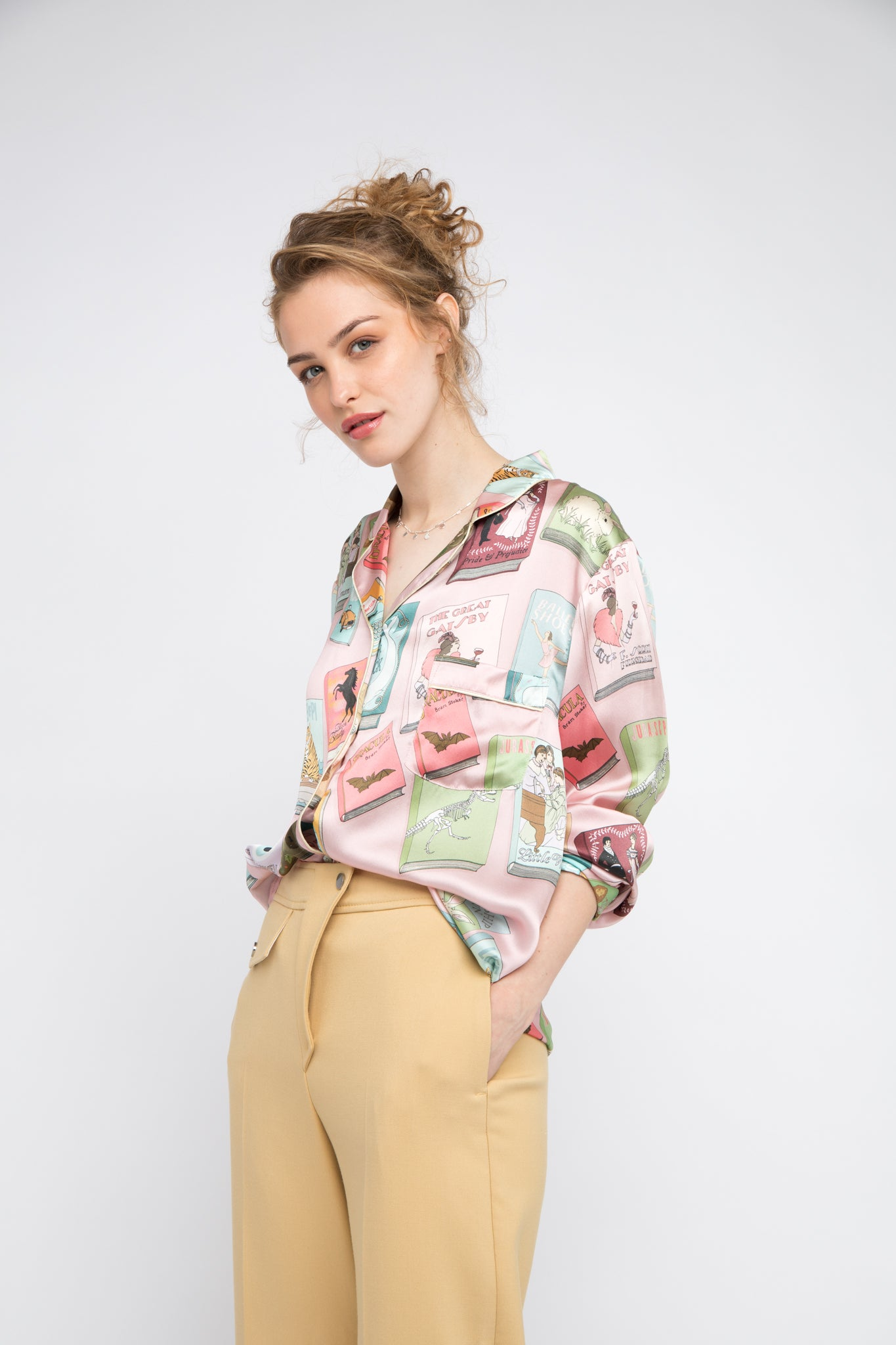 Bookworm Silk Shirt