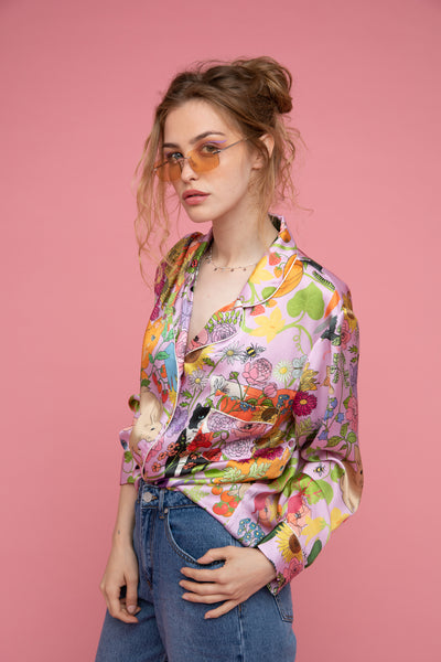 Garden of Earthly Delights Silk Shirt