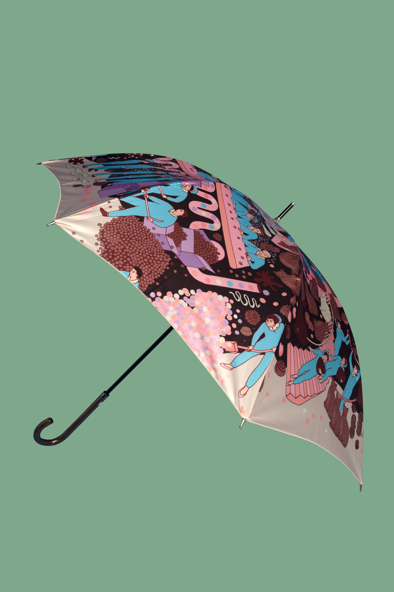 Chocolate Factory Umbrella | Pink
