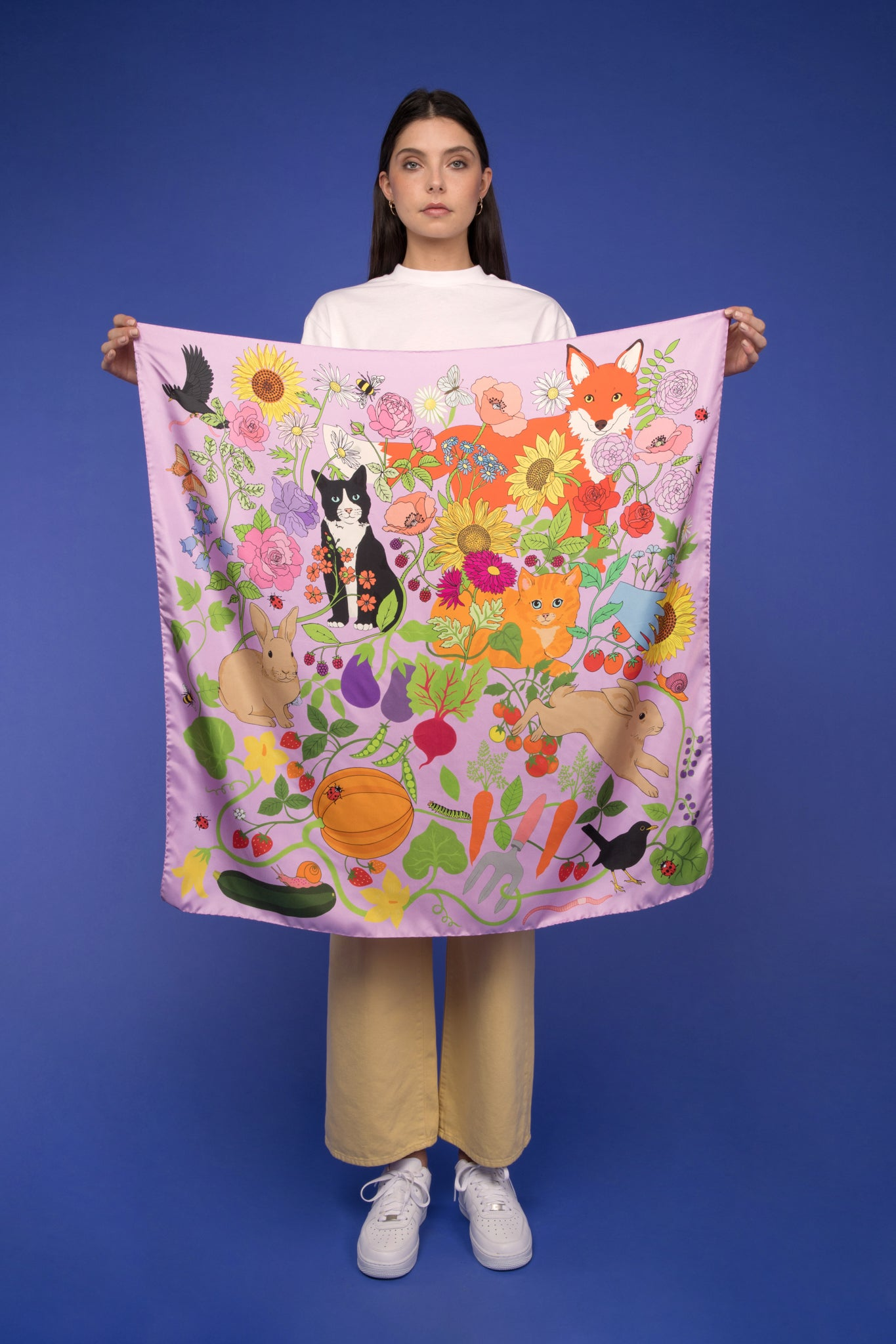 Garden of Earthly Delights silk scarf