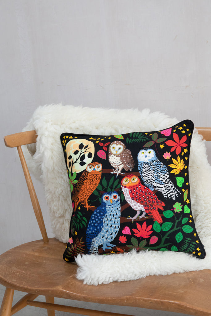 Night Owls Cushion Cover