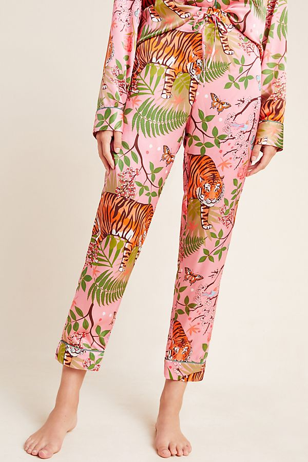 *Pre-Order* Tiger Blossom Silk Trousers (Pink)