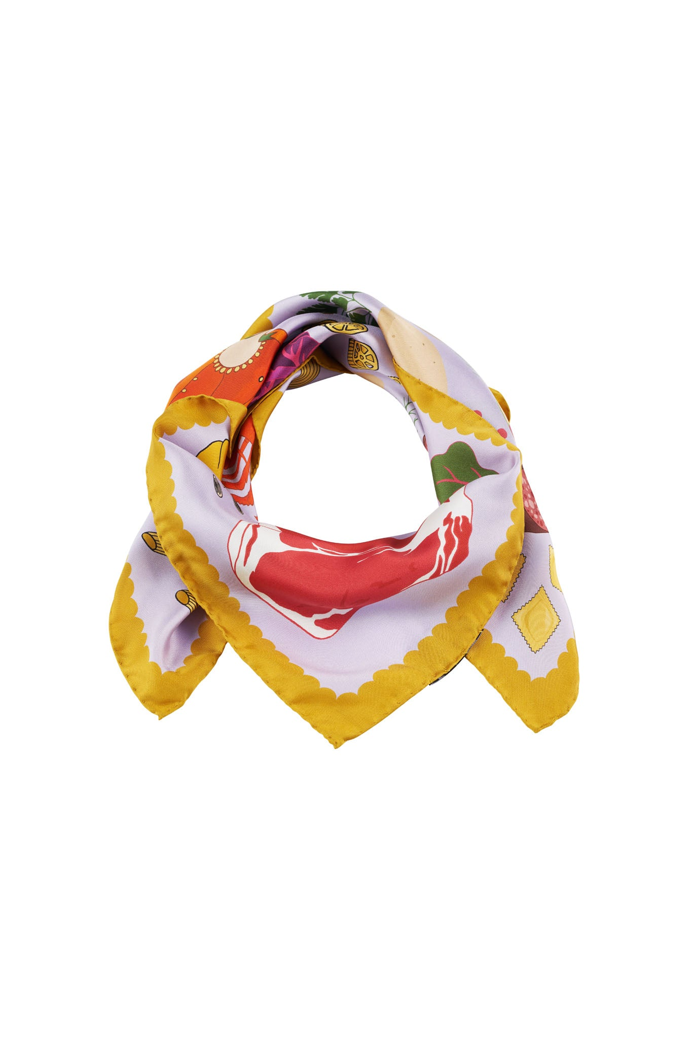 Chef's Table silk scarf