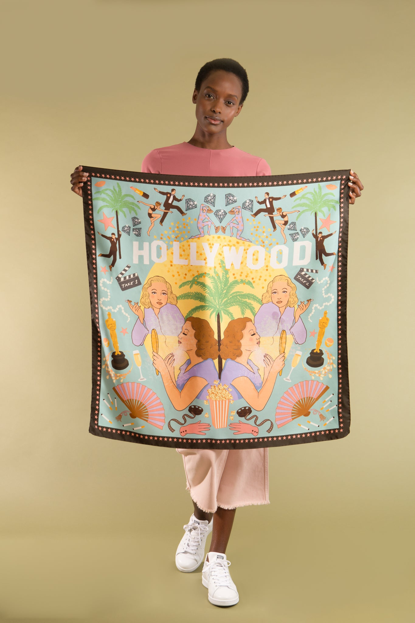 Hollywood Silk Scarf - Pastel