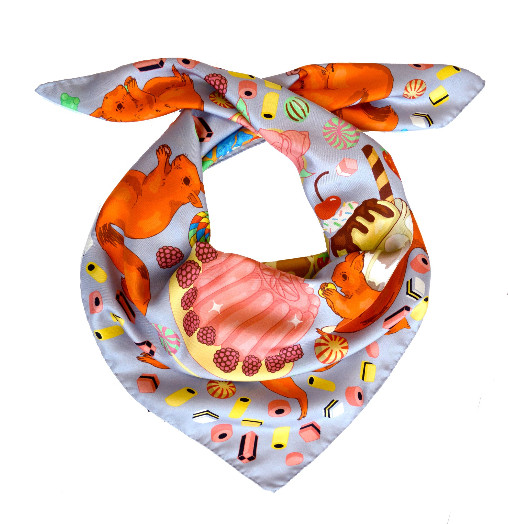 SWEET AS A NUT SILK SCARF