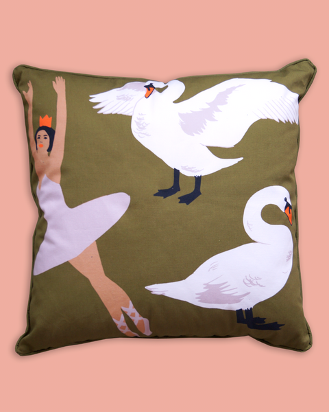 Swan Lake Cushion | Large