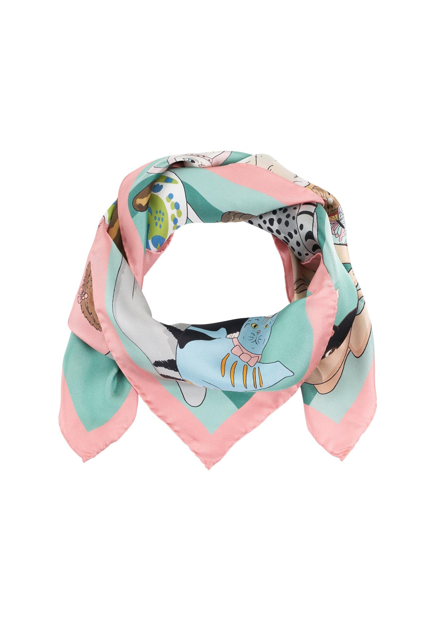 Cat Person Silk Scarf