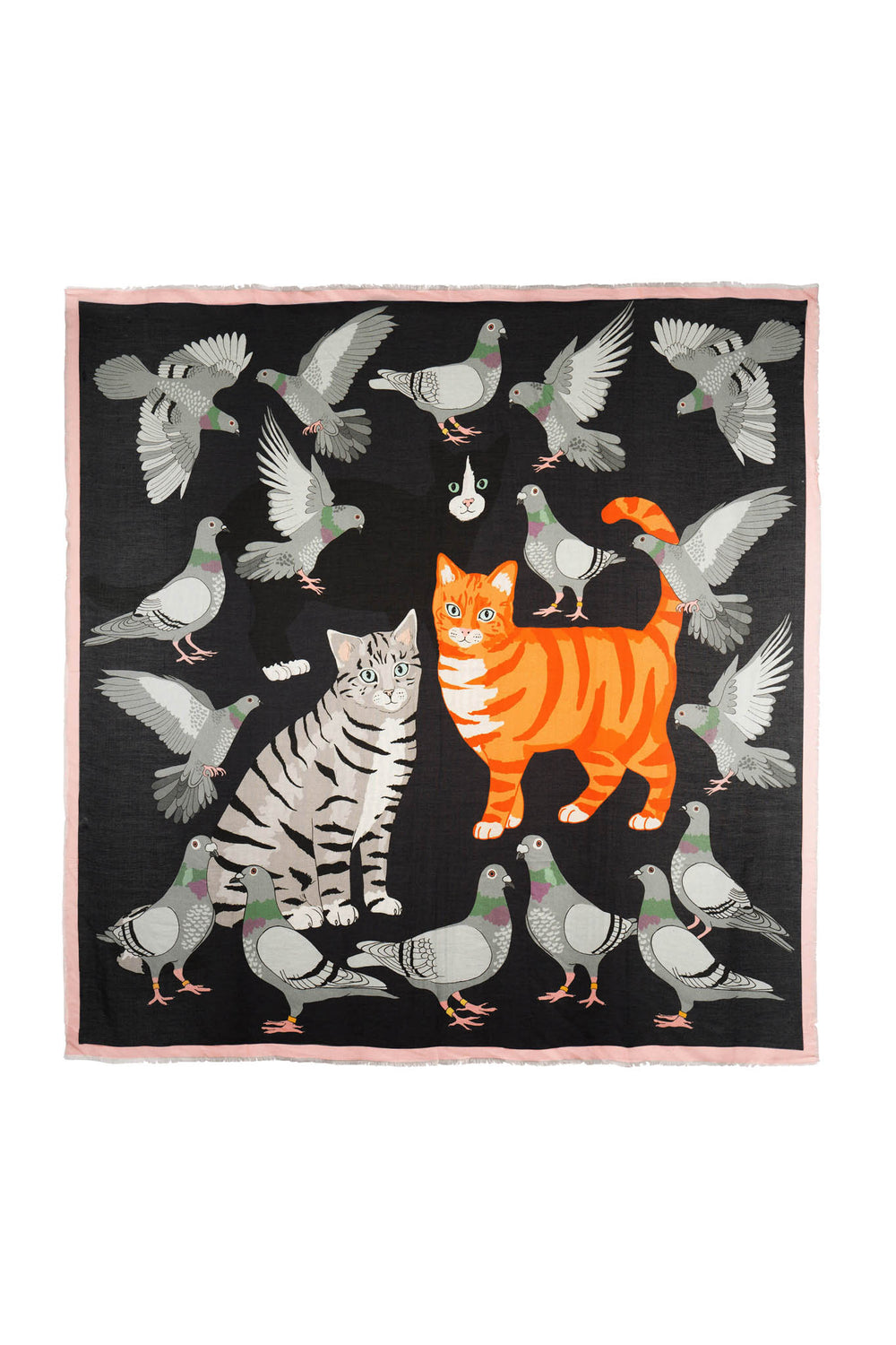 Cat Amongst The Pigeons Cashmere Blend Scarf