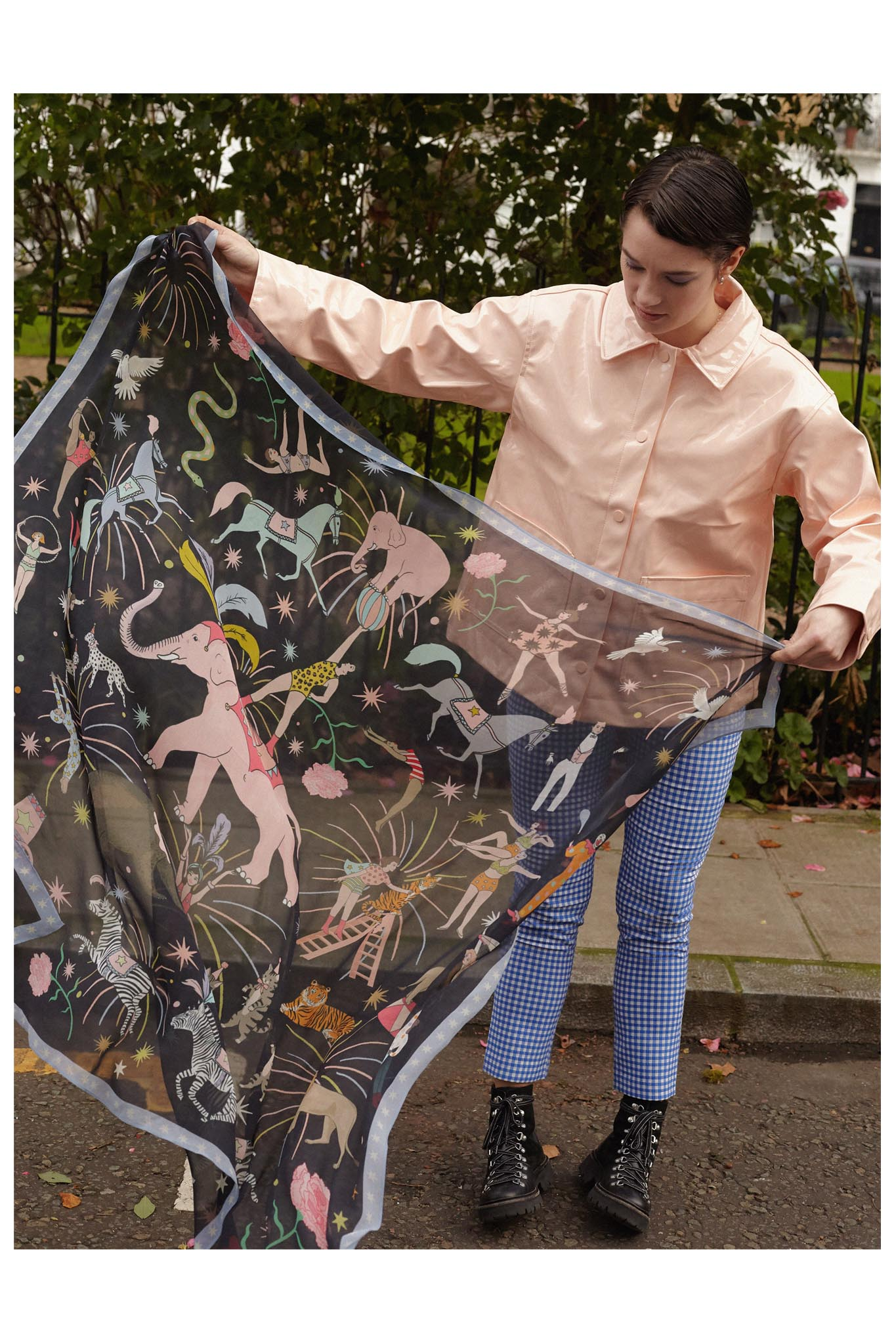 Circus Oversized Silk Georgette Scarf