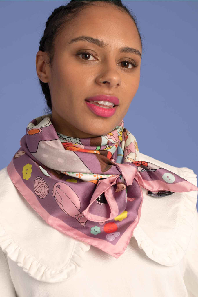 The Collector Silk Scarf